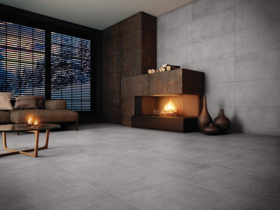 Ambiente Lanzi - Vanguard Gray 51x103cm, Portland Gray 51x103cm e Steel Corten 51x103cm